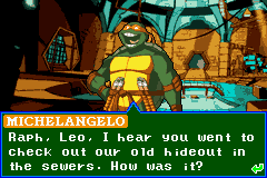 Teenage Mutant Ninja Turtles - Cut-Scene  - Michelangelo - User Screenshot